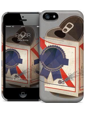 Чехол для iPhone 5/5S PolyBR Dave Murray Gelaskins. Цвет: серый, синий