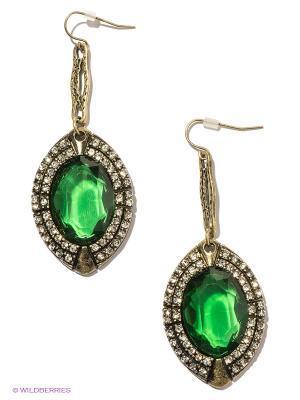 Серьги Milana Style. Цвет: бронзовый, зеленый