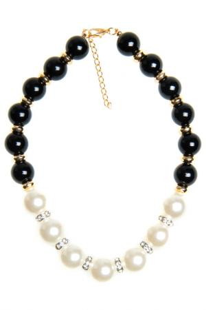 Necklace BELLA ROSA. Цвет: black, white