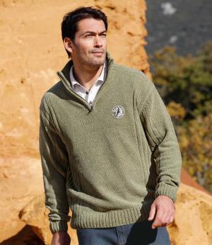 Пуловер «Аризона» AFM. Цвет: зеленыи