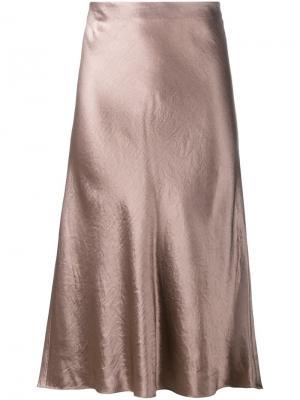 Расклешенная юбка Vince. Цвет: коричневый