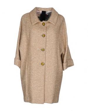 Пальто FEMME by MICHELE ROSSI. Цвет: бежевый