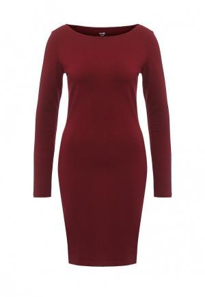 Платье oodji. Цвет: бордовый