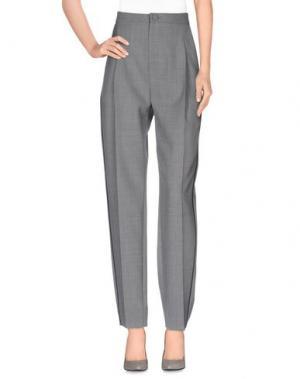 Повседневные брюки BOUCHRA JARRAR. Цвет: светло-серый