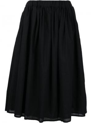 Расклешенная юбка Organic By John Patrick. Цвет: чёрный