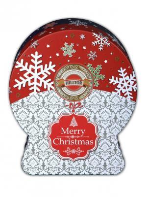 Чай Hilltop снежный шар Морозные узоры Рождественский 100г.. Цвет: черный