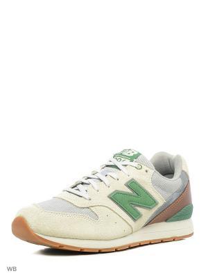 Кроссовки NEW BALANCE 996 SUEDE. Цвет: зеленый, хаки