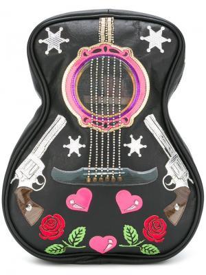 Рюкзак guitar Manish Arora. Цвет: чёрный