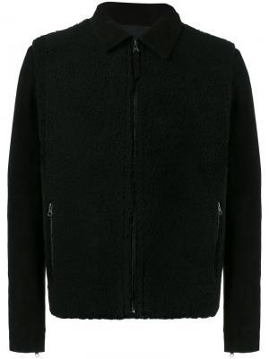 Двусторонняя куртка из овечьей шерсти Lot78. Цвет: чёрный