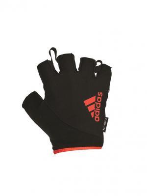 Перчатки для фитнеса Adidas красные, размер M. Цвет: черный, красный