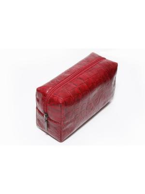 Косметичка-несессер Norton (200х75х110мм) (бордовый рептилия) Norton.. Цвет: бордовый