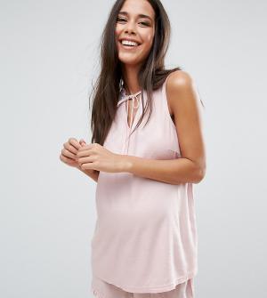 ASOS Maternity Пижамный комплект с шортами для беременных. Цвет: розовый