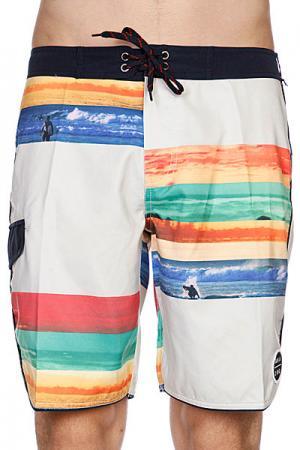 Пляжные мужские шорты  Chroma Brdshort Halsband Analog. Цвет: зеленый,бежевый,голубой