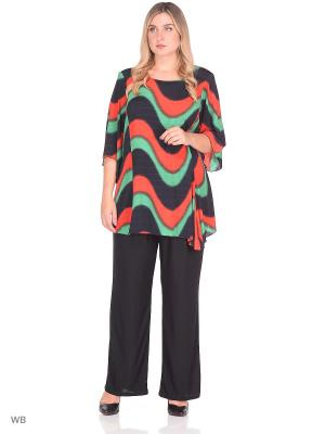 Блузка MASTERITSA NEW CLASSIC. Цвет: темно-синий, зеленый, красный
