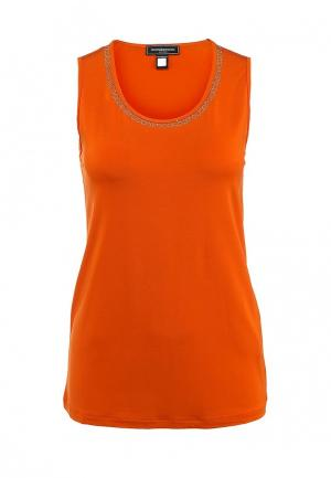 Майка Roccobarocco Knitwear. Цвет: оранжевый