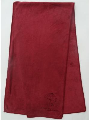 Полотенце для фитнеса A and C Collection. Цвет: бордовый