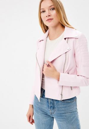 Куртка кожаная Noisy May. Цвет: розовый