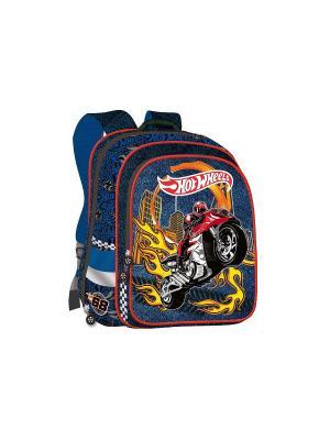 Ранец Super bag Hot Wheels ортопедическая спинка синий Mattel. Цвет: синий