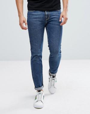 PS Paul Smith Темные узкие джинсы by. Цвет: синий
