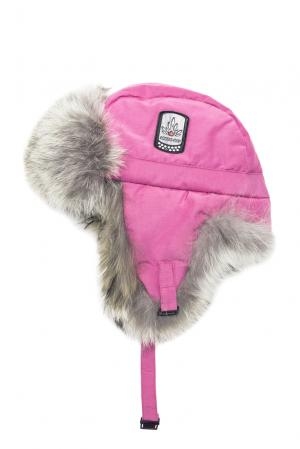 Шапка с отделкой из меха койота 152312 Arctic Bay. Цвет: розовый