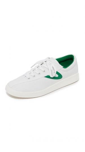 Кроссовки Nylite Tretorn. Цвет: винтажный белый/зеленый