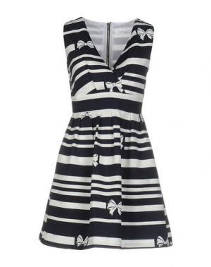 Короткое платье ANONYME DESIGNERS. Цвет: темно-синий