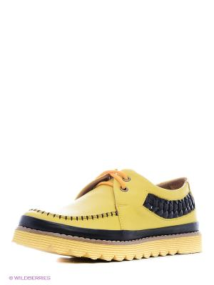 Мокасины MILANA. Цвет: желтый