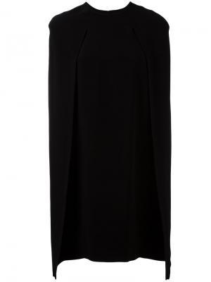 Платье со шлицами на рукавах Gianluca Capannolo. Цвет: чёрный
