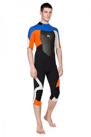 Гидрокостюм (Комбинезон)  Sl Backzip Fs Uni Quiksilver. Цвет: черный,оранжевый,синий