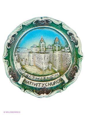 Тарелка Вифлеем 3D Bethlehem Star. Цвет: зеленый