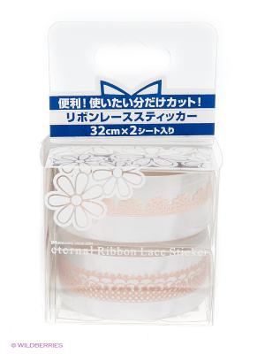 Лента для ногтей Нео Романское кружево ETERNAL Ribon Lace Nail Sticker Neo Romance PA presents since 2004. Цвет: бежевый