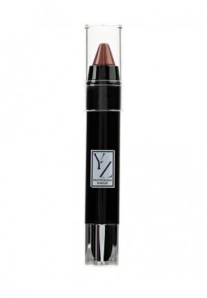 Карандаш для губ Yllozure. Цвет: коричневый