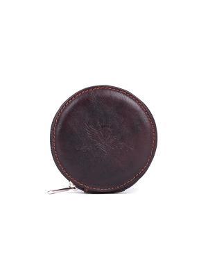 Кошелек-монетница VERSADO. Цвет: темно-коричневый