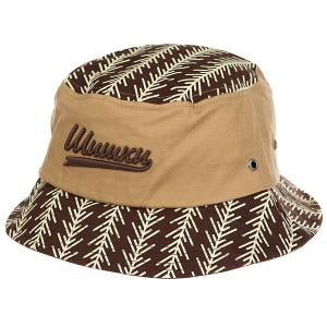 Панама  Shishki Brown/Beige Запорожец. Цвет: светло-коричневый