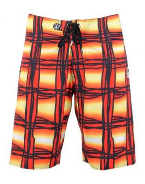 Пляжные брюки и шорты VOLCOM. Цвет: оранжевый