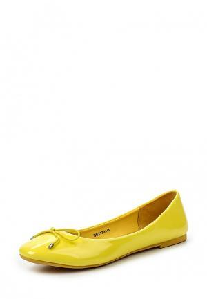Балетки Sparkling. Цвет: желтый