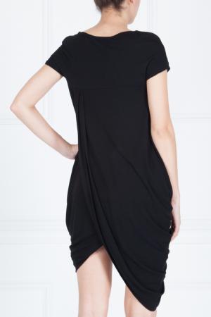Платье из вискозы Maurizio Pecoraro. Цвет: черный