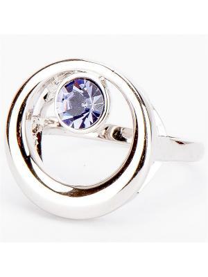 Кольцо  Эмма биж. сплав Колечки. Цвет: серый