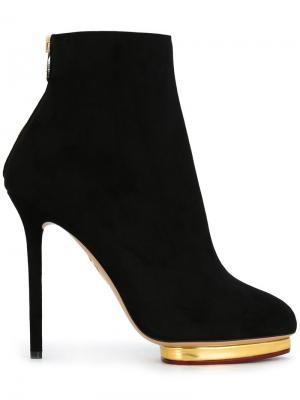 Ботинки на шпильке Charlotte Olympia. Цвет: чёрный