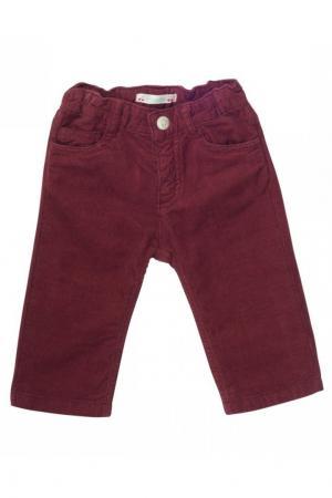 Вельветовые брюки бордовые Bonpoint. Цвет: none
