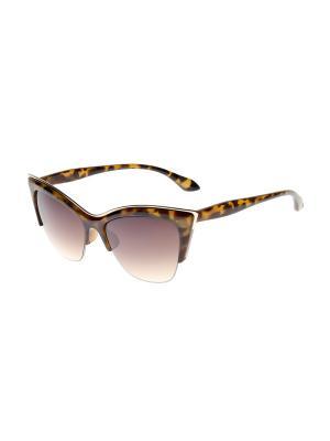 Солнцезащитные очки Gusachi. Цвет: коричневый, золотистый