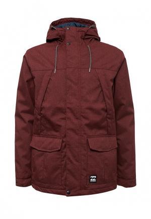 Куртка утепленная Billabong. Цвет: бордовый
