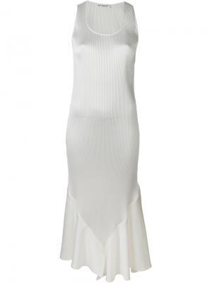 Платье миди с расклешенным подолом Barbara Casasola. Цвет: белый
