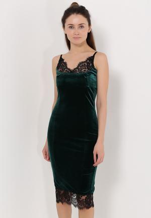 Платье Zerkala. Цвет: зеленый
