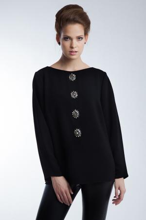 Блузка Barbara Schwarzer. Цвет: черный