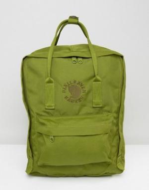 Fjallraven Зеленый рюкзак на 16 литров Re-Kanken. Цвет: зеленый