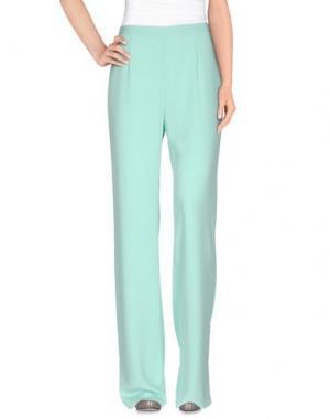 Повседневные брюки BETTY BLUE. Цвет: светло-зеленый