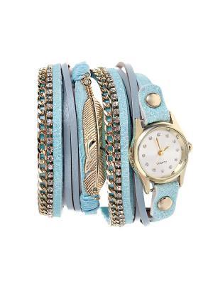 Браслет-часы Olere. Цвет: золотистый, голубой