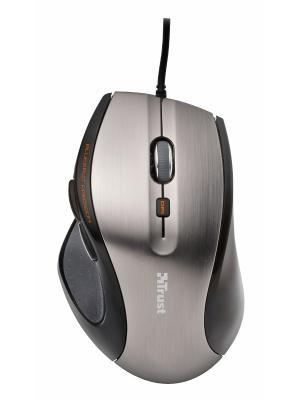 Мышь 17179  Trust MaxTrack Mini Mouse grey/black USB. Цвет: серебристый, черный