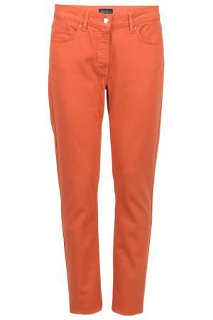 Зауженные брюки с застежкой на молнию Luisa Spagnoli. Цвет: оранжевый